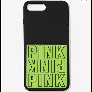 🆕 VS PINK Neon IPhone 6/7/8 Case with Pocket